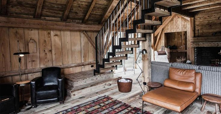 Un ambiente che rappresenta bene l'idea di lusso confortevole dello Chalet Ornella, proprietà del gruppo Le Collectionist sulle Alpi francesi.