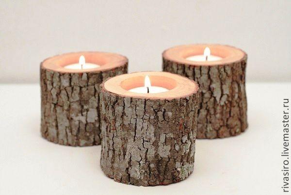 """Купить Подсвечники """"Эко"""" - деревянные подсвечники, подсвечники из дерева, Свечи, аксессуары для свадьбы, аксессуары для фотосессий"""