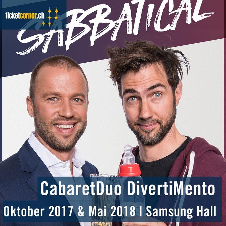 Der erfolgreichste Comedy-Act der Schweiz Cabaret Divertimento gastiert mit dem neuen Programm «Sabbatical» in der Samsung Hall. Tickets für die acht Shows vom 3., 4., 6., und 7. Oktober 2017 sowie 22., 23., 25., und 26. Mai 2018.