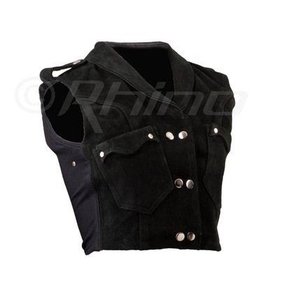 Cropped suede vest