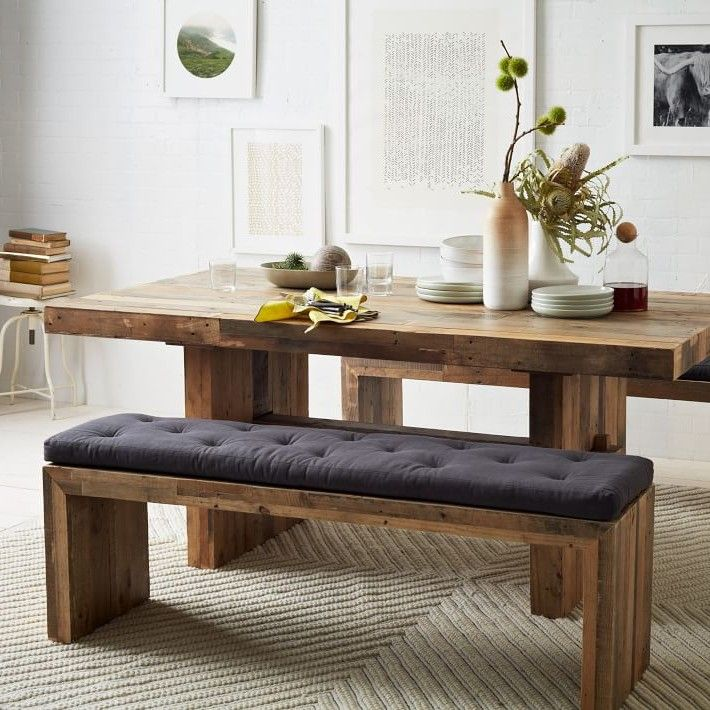 Best 25 dining table with bench ideas on pinterest kitchen table with bench wood dinning Breakfast table with bench