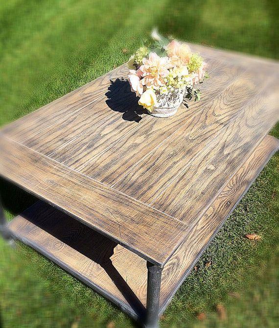Rustic Wood Coffee Table/ industrial coffee Table/ Rustic living room/ Rustic…