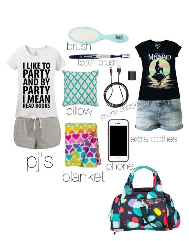 """what i bring to a sleep over"" by the-disneyprincess ❤ liked on Polyvore"