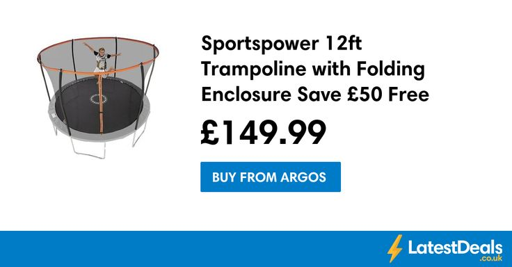 Sportspower 12ft Trampoline with Folding Enclosure Save £50 Free C+C, £149.99 at Argos