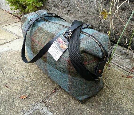Duffle Bag Overnight Bag Weekender Bag Blue by Bagsofelegance
