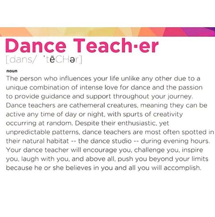 "Dance Teacher ""Definition"""