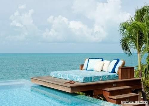 """Now this is paradise: a lovely """"Dream Deck"""" to go with our Dream Water. I sure wouldn't mind taking a Snoozeberry here. What do you think?"""