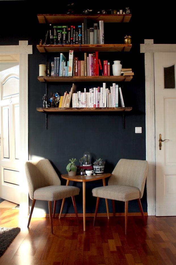 DIY Bücherregal, Tags Bücher, Wohnzimmer, Midcentury, Wohnzimmer, Reagl