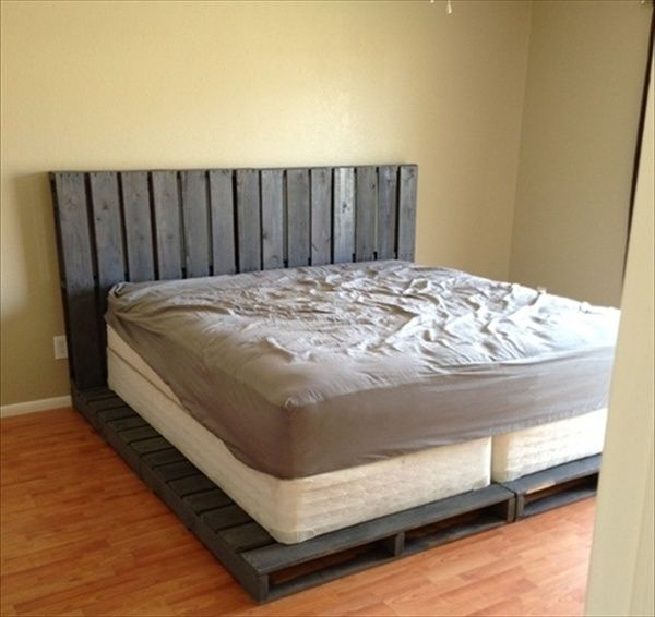 pallet-bed-frame-5.jpg 600×566 pixels Great idea for an inexpensive bed!