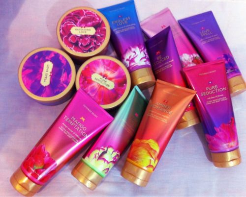 victoria's secret lotions <3 would love to have this.