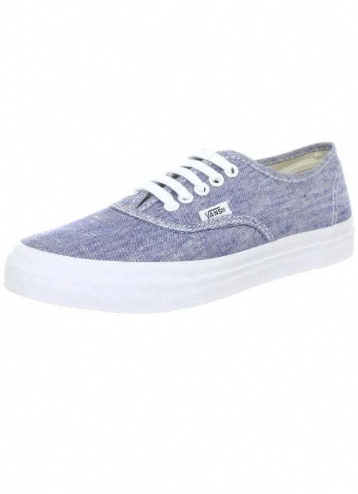 74ba4633da Vans Authentic Slim Chambray Blue True White Shoes Size Men 8.5 Women 10   fashion  clothing  shoes  accessories  womensshoes  athleticshoes  ad  (ebay link) ...