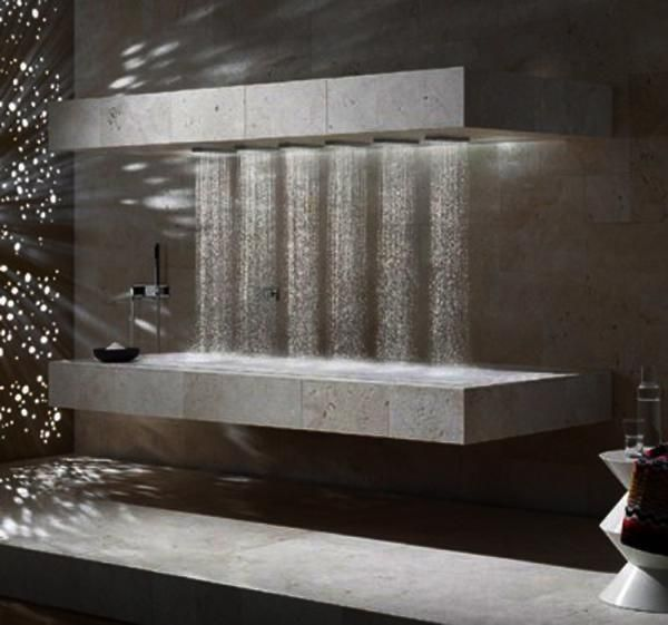 25 modern shower designs and glass enclosures modern for Glass waterfall design