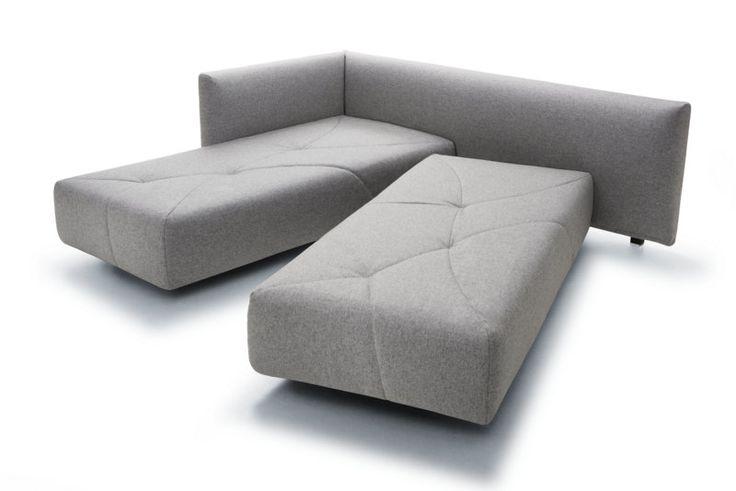 Un divano lettto rivoluzionario che cambia con un semplice movimento e si trasforma in un letto matrimoniale o in due letti singoli.