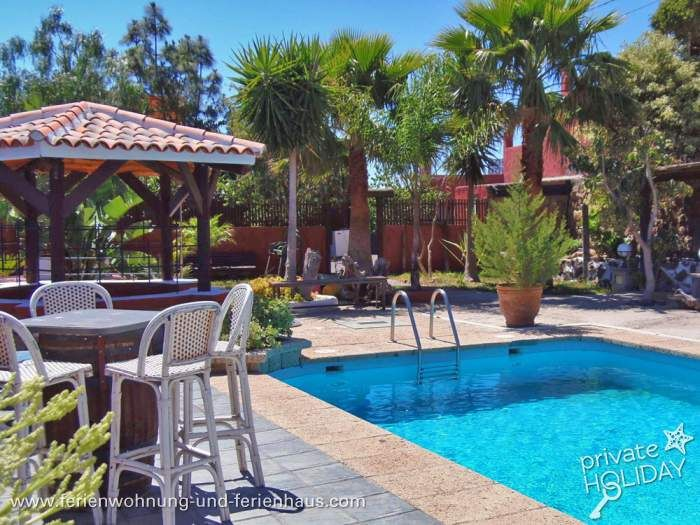 #Finca- Apartment mit Pool, Garten, Terrassen und Patio bei #Güimar in #Teneriffa
