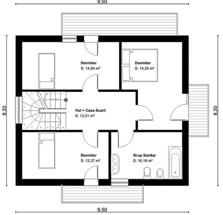 Planos De Casas De Dos Pisos 3 Dormitorios 2 Banos Floor Plans