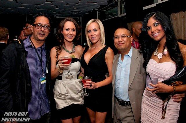 Gerry Mendoza with Narida Mohammed and Mamood Patel, REELWORLD Patio Film Party 2010
