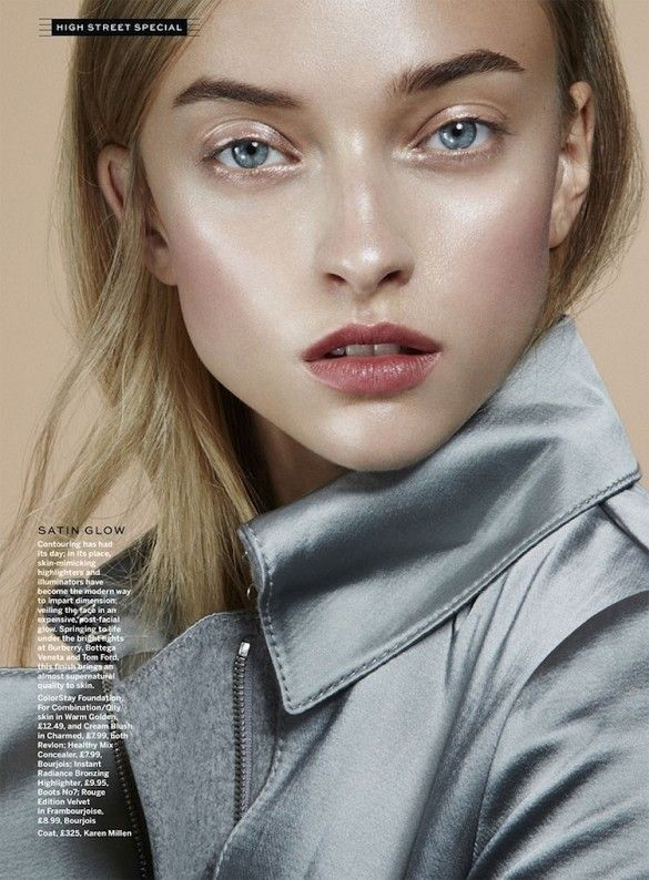 Highlighters and illuminators offer dimension for a satin glow. // Beauty Inspiration from Stylist Magazine // Photo by Jamie Nelson