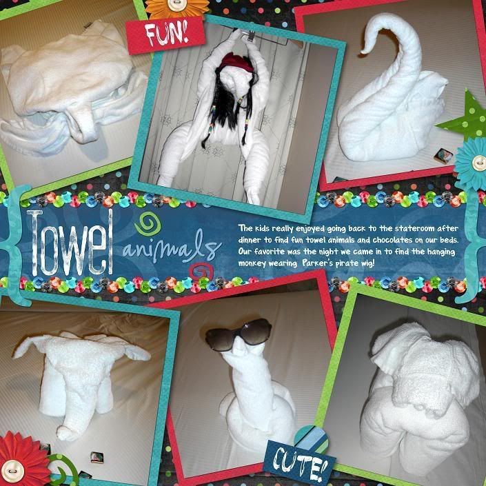 scrapbook page layouts cruise jamaica   eek -- I can't find my credits for this one!