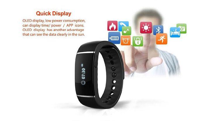 Bluetooth 4.0 S55 Waterproof Smart Band Pedometer Smartband Bracelet Wristband Fitness Tracker Smartband For IOS Phone Android