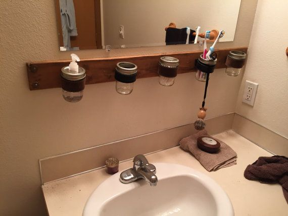 Contemporary Art Sites Rustic Bathroom Organizer