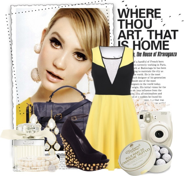 """""""Yellow Feeling"""" by icebubbletea on Polyvore: Style Polyvore, Polyvore Sets"""