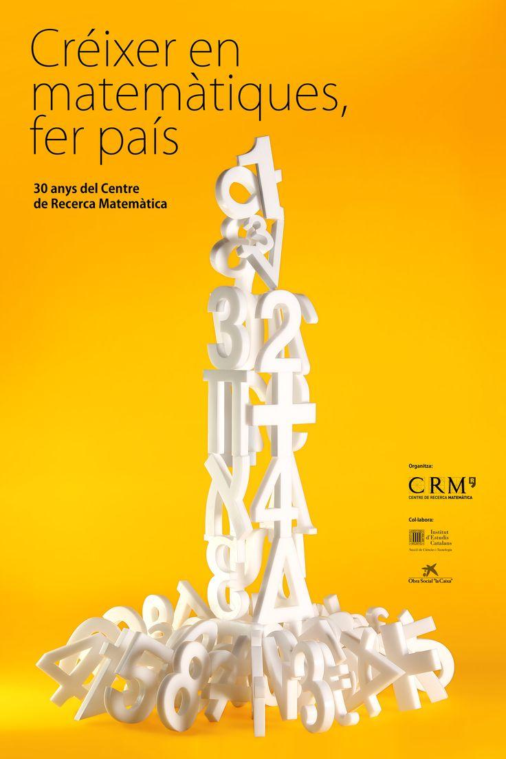Diseño gráfico, Cartel, Créixer en matemàtiques, fer país, exposición