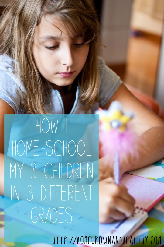 How I Home-School My 3 Children in 3 Different Grades!