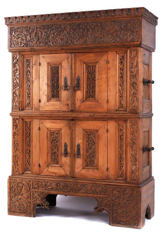 neugotischer stollenschrank baroque furniture antique furniture