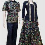 Model baju batik gamis sarimbit terbaru