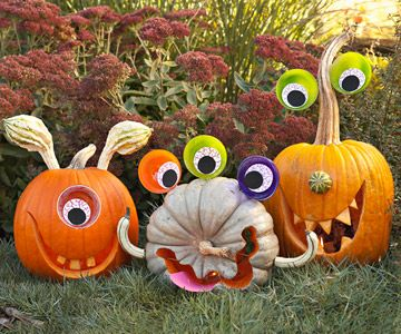 Fun monster pumpkins for Halloween! pumpkins monsters