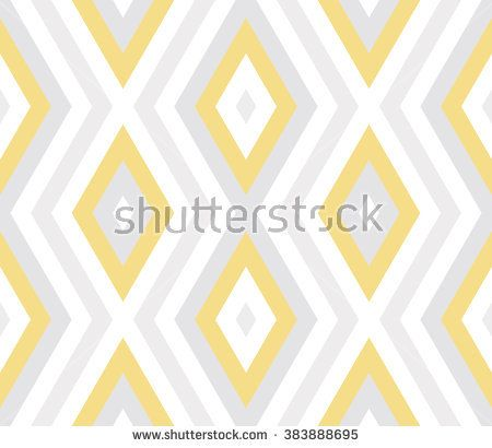 Seamless abstract geometric pattern with pastel yellow, gray, white diagonal, zig zag stripes, lines, rhombuses. Geometrical background with diamond. Stripped geometric pattern. Vector illustration.