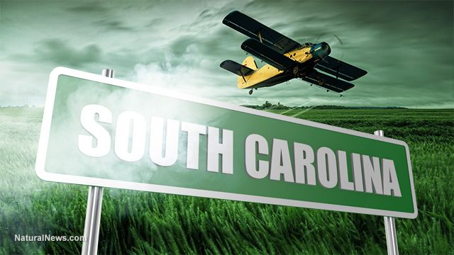 South Carolina succeeds in 'nuke' test of aerial chemical weapons of mass destruction; food supply pollinators instantly obliterated by the millions