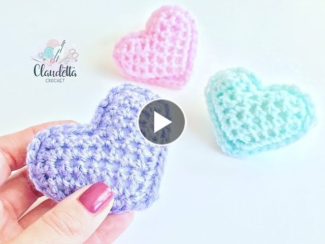 Crochet Cookie – GANZ EINFACHES 3D Herz häkeln / super für Anfänger geeignet
