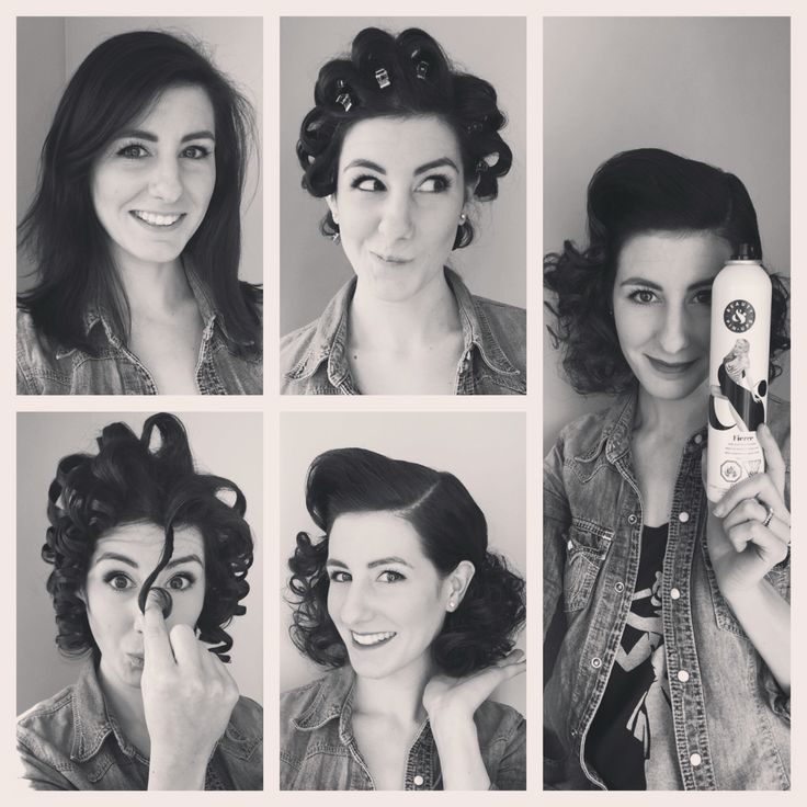 Miss Rockabilly Ruby inspired 'do. Vintage retro hair.