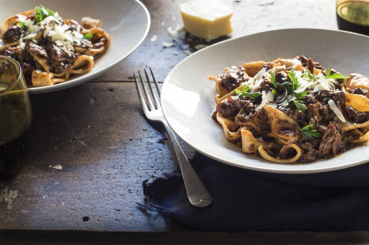 Beef Shin Ragu by Chelsea Winter. This is such an easy and delicious meal that you can also throw in the Slow Cooker, put on low and let it cook all day. Always a hit in my household! <3