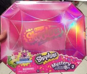 Shopkins season 4 new mystery edition box 2 in pink with 24 exclusives release date is March 6