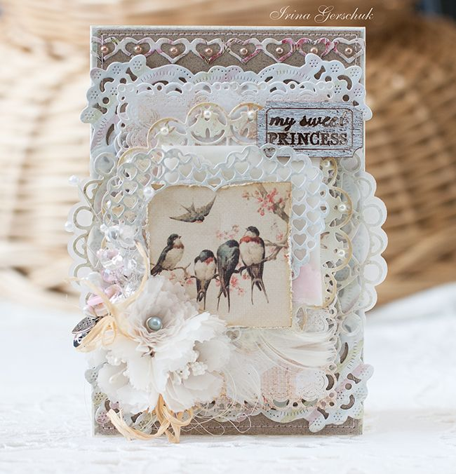 Shabby card with Irina Gerschuk