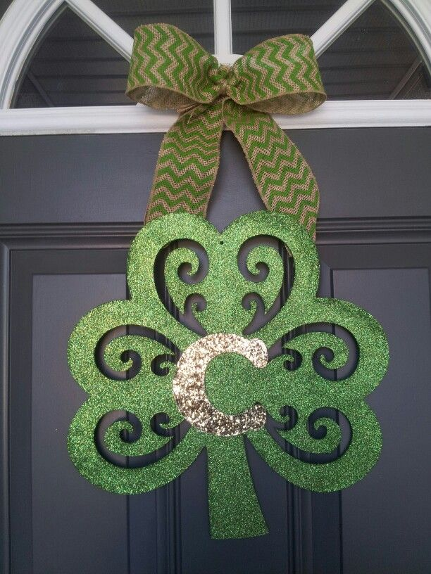 St patrick 39 s day door decor holiday pinterest for Decoration saint patrick