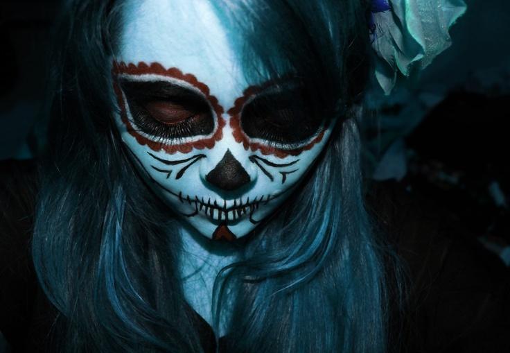 Sugar Skull Make Up and Photoshop edition by Nina Vásquez