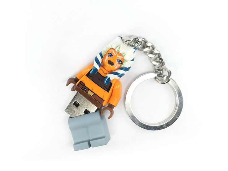 lego ahsoka tano usb minifig keychain star wars war usb and etsy. Black Bedroom Furniture Sets. Home Design Ideas