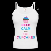 summer wear / Here's a great #KeepCalm custom tank top that makes sense: eat cupcakes.  Of course we can keep calm and eat cupcakes, as long as they are double chocolate fudge cupcakes.