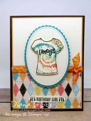 Custom Tee Diana Gibbs Stampin' Up! Blog Hop Jan 2017