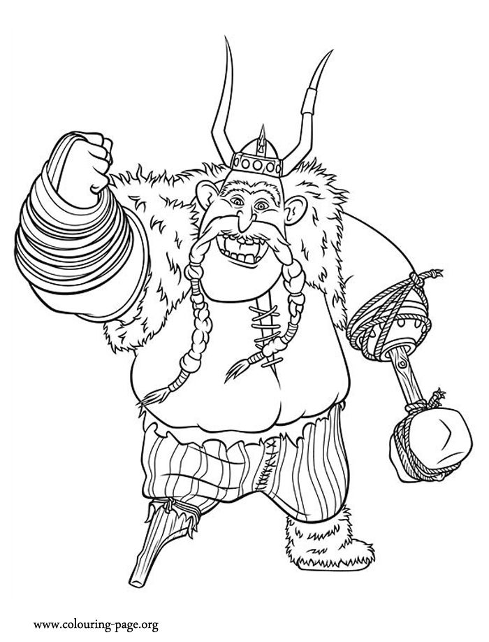 gobber the belch is warrior and a long time stoicks friend he is also coloring book