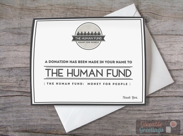 Seinfeld Christmas Card: A Donation Has Been Made In Your Name To The Human Fund