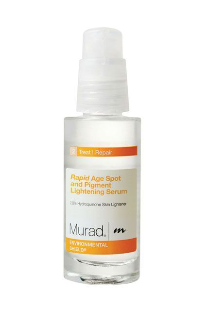 Remember how Dr. Shah called hydroquinone the gold-standard of brightening ingredients? It's in here, along with glycolic acid to remove dead skin cells, which allows the hydroquinone to penetrate more deeply.Murad Rapid Age Spot and Pigment Lightening Serum, $60, available at Sephora. #refinery29 http://www.refinery29.com/best-dark-spot-corrector#slide-12