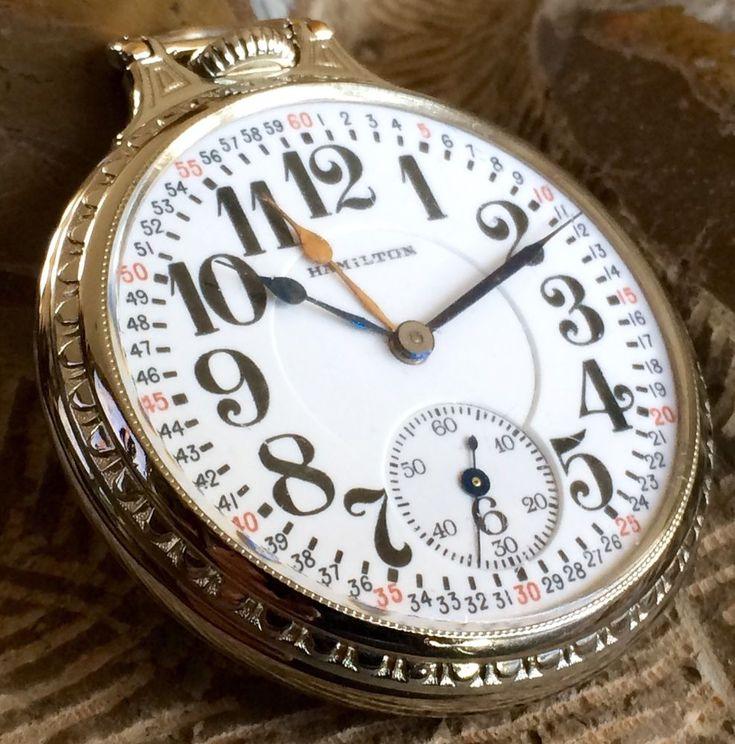 Hamilton dual hand pocketwatch