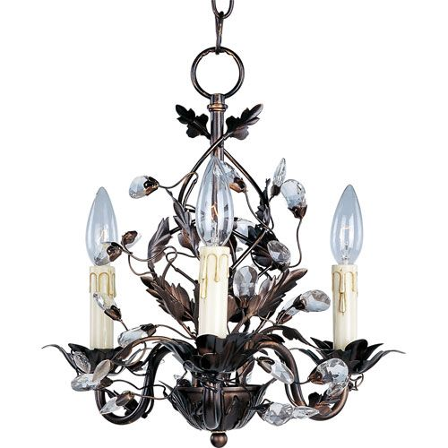 Elegante Oil Rubbed Bronze Three Light Chandelier Maxim Lighting International Candles Wi