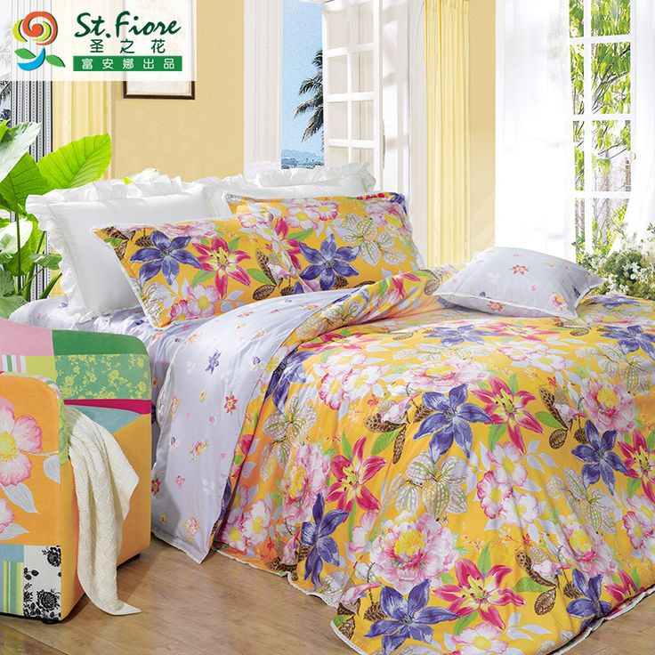 Floral duvet cover fashion bed sheet bedding queen king size bed cover  green duvet cover free shipping bed sheets WTXJ