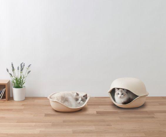パルプ素材の猫用ベッド