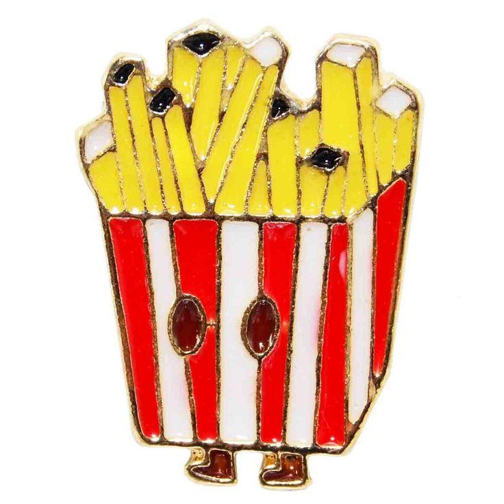 Enamel Pin - Walking Fries, hot chips